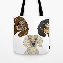 Triple Doxies Tote Bag