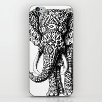 navajo iPhone & iPod Skins featuring Navajo Elephant by BIOWORKZ