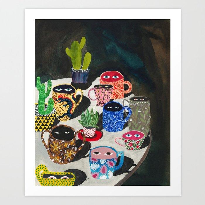 Suspicious mugs Kunstdrucke