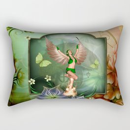 Wonderful fairy with butterflies Rectangular Pillow