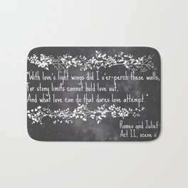 With love's light wings Bath Mat