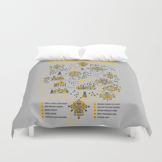 Welcome to Carcosa Duvet Cover
