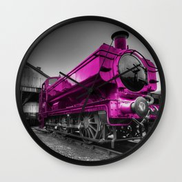 The Pink Pannier Wall Clock
