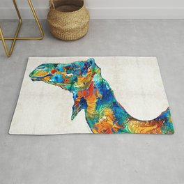 Colorful Camel Art By Sharon Cummings Rug