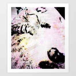 Kitty IN Color Art Print