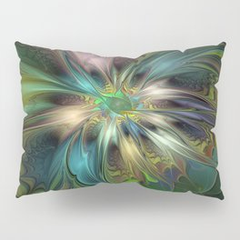 Colorful Abstract Fractal Art Pillow Sham