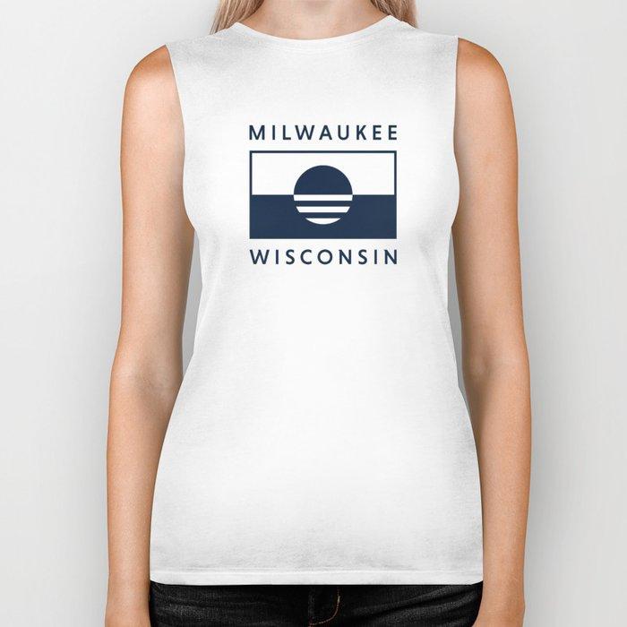 Milwaukee Wisconsin - Navy - People's Flag of Milwaukee Biker Tank