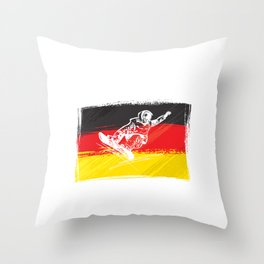 Deutschland | Mountain sports | Sports | Snowboarding | Powder Rider | Snowboard Lover | Flag | Throw Pillow