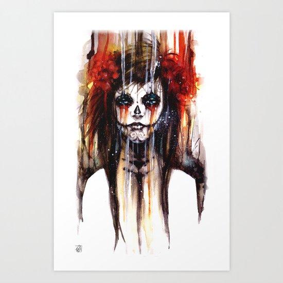 calavera de azúcar - sugarskull Art Print