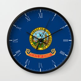 Idaho State Flag Wall Clock