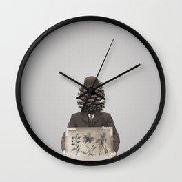 Pine Cone Mugshot Wall Clock