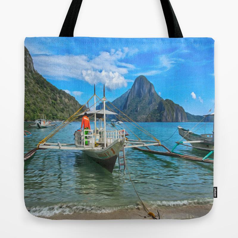 Palawan Beach Philippines Tote Bag