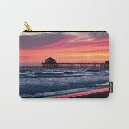Surf City Sunsets   8/30/15   Huntington Beach California Carry-All Pouch