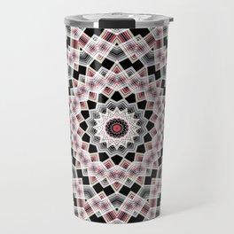 Red , black , white, Kaleidoscope Travel Mug