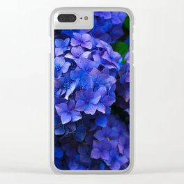 Beautiful blue flowers Clear iPhone Case
