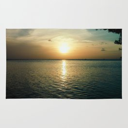 Sunset From L.G. Smith Boulevard, Aruba Rug
