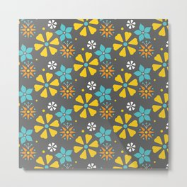 Floral pattern summer Metal Print