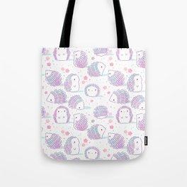 Spring Hedgehog Pattern Tote Bag