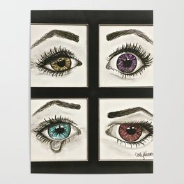 Eyes Show Emotions Poster