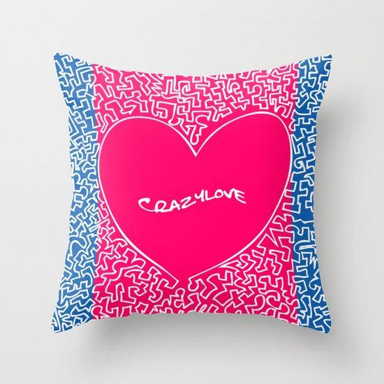 Crazylove Throw Pillow