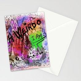 Metaphysical Penguin I AM A WEIRDO Stationery Cards