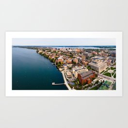 Isthmus Panorama - Sept 2020 Art Print
