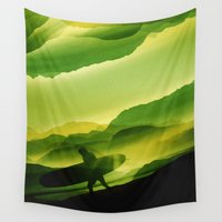 surfing Wall Tapestries featuring Phobia Plastic Surfing by Stoian Hitrov - Sto