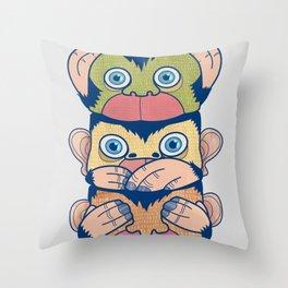 Hear no evil, Speak no evil, See no evil Throw Pillow