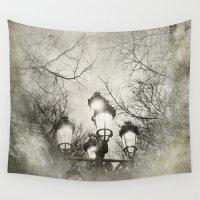 lantern Wall Tapestries featuring Vintage Lantern by Victoria Herrera