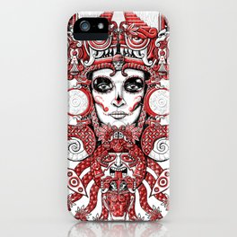 Red Serpent Queen iPhone Case