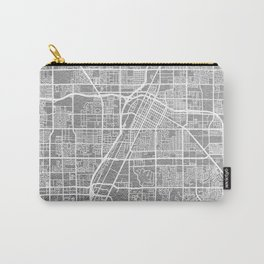 Silver Las Vegas map Carry-All Pouch