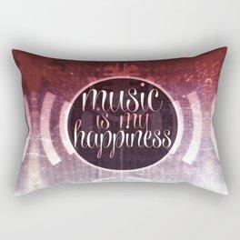 music is my happiness | music theme Rectangular Pillow