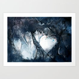 Live by the light in you heart. Art Print