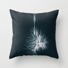 Cyanotype - Aloe Socotrina Throw Pillow