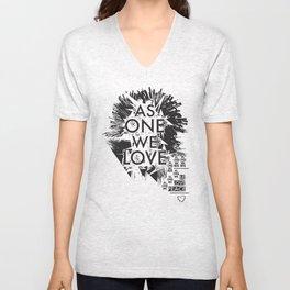 As One We Love Unisex V-Neck