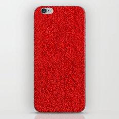 Blood Red Hotel Shag Pile Carpet iPhone & iPod Skin