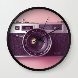 #04_Yashica electro 35#pink#film#effect Wall Clock