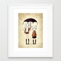 sisters Framed Art Prints featuring Sisters by Freeminds