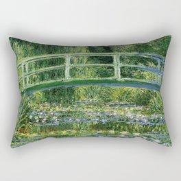 Water Lilies and Japanese Footbridge, Claude Monet Rectangular Pillow