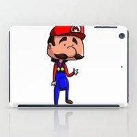 super mario iPad Cases featuring Mario - Super Mario Bros by Dorian Vincenot
