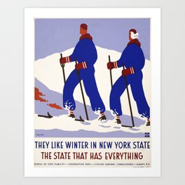Vintage American WPA Poster - New York State, the State that has Everything (1936) Art Print