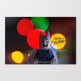 Bat Man Merry Christmas Canvas Print