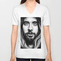 jared leto V-neck T-shirts featuring Jared Leto by KlarEm