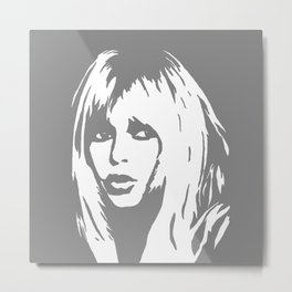 Brigitte Bardot art, portraits, monochrome art, movie stars and legends Metal Print