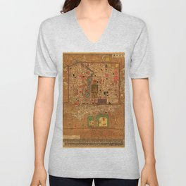Map Of Peking 1914 Unisex V-Neck