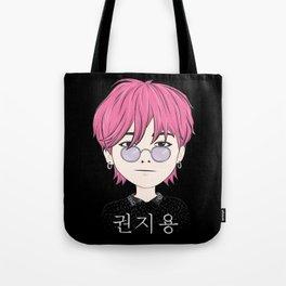 G-Dragon Cartoon Black Tote Bag