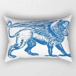 Gryphon-Blue Rectangular Pillow