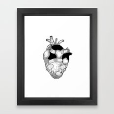 The strongest hearts have the most scars Framed Art Print