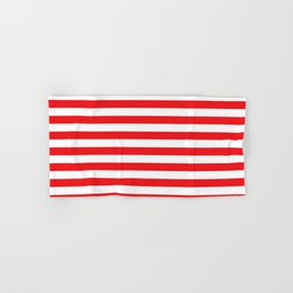 Red white stripes Hand & Bath Towel