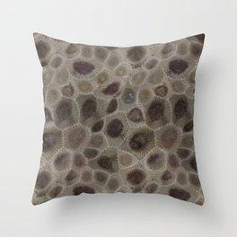 Petoskey Stone Throw Pillow